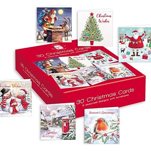 Giftmaker 30 Christmas Cards
