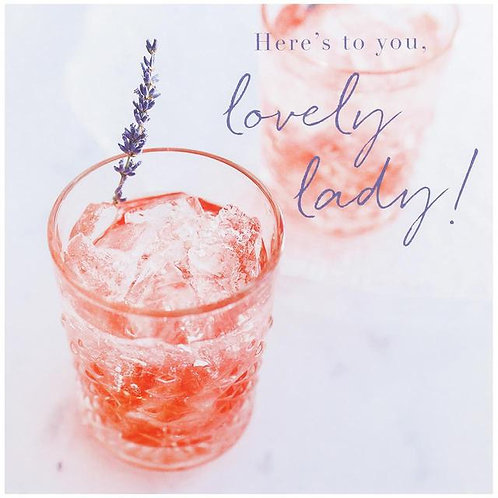 Pink Gin Birthday Card