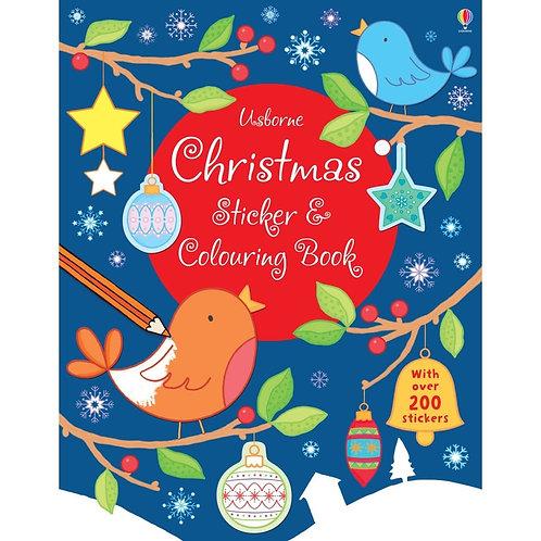 Usborne Christmas Sticker and Colouring Book