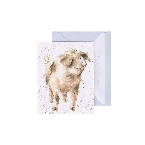 Wrendale Mini Card - Truffles and Trotters