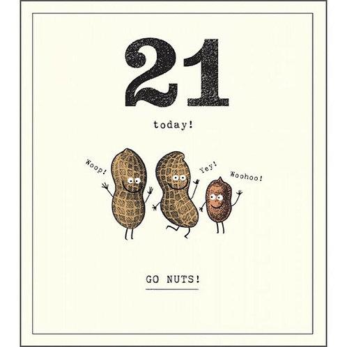 21 Today Birthday Card