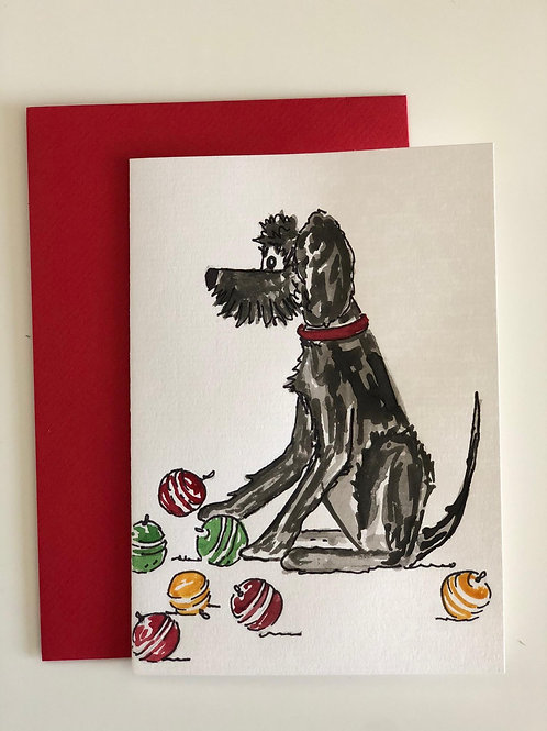 """Hand Painted Card - """"Time to Decorate"""""""