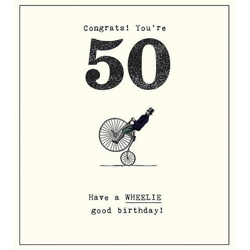 Congrats! You're 50 Birthday Card