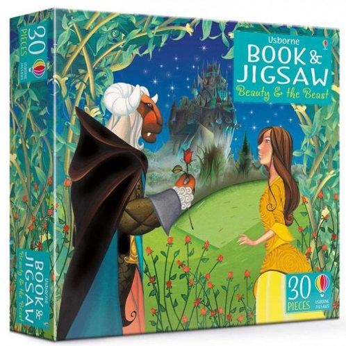 Usborne Book & Jigsaw - Beauty & the Beast