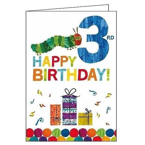 Hungry Caterpillar 3rd Birthday Card