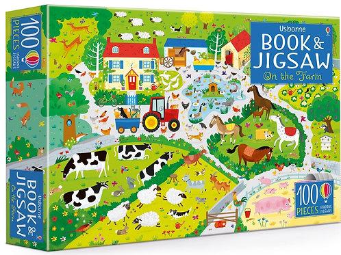 Usborne Book & Jigsaw - On the Farm