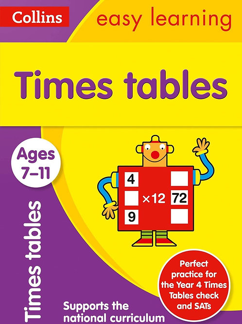 Collins Easy Learning - Times Tables (Ages 7-11)