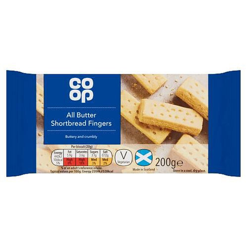 All Butter Shortbread Fingers