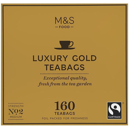 M&S Fairtrade Luxury Gold Teabags 160 per pack