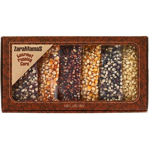 ZaraMama Gourmet Popping Corn - 6 Pack Gift Box