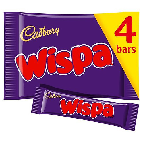 Cadbury Wispa Chocolate Bars 4 Pack