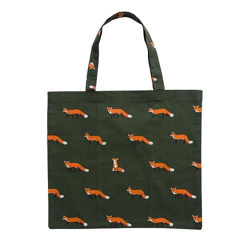 Folding Shopping Bag - Foxes