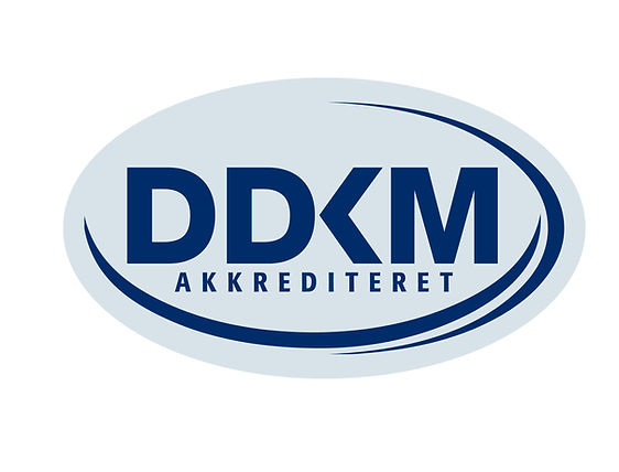 DDKM akkrediteret logo, stort logo, jpg.