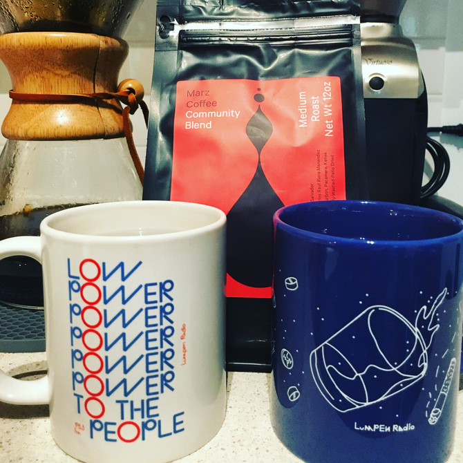 From Chicago to NYC, we can still get our Lumpen Radio + Bridgeport Coffee fix...