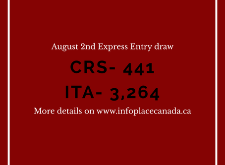 August 2nd Express Entry Draw
