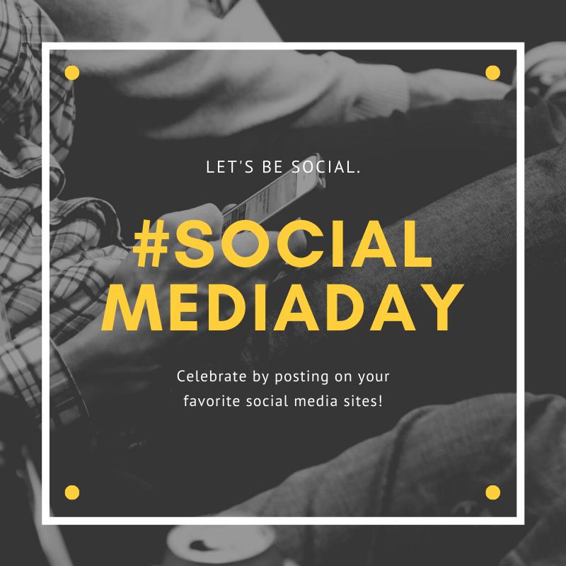 Greyscale Photo Social Media Day Social