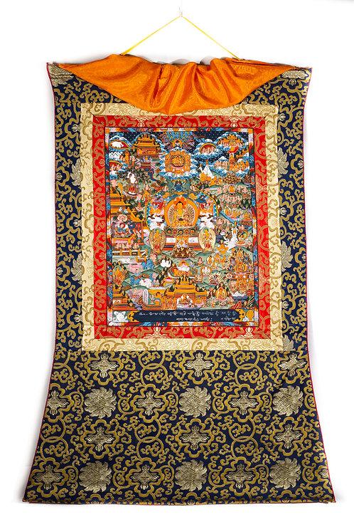 Thangka - Das Leben des Buddha