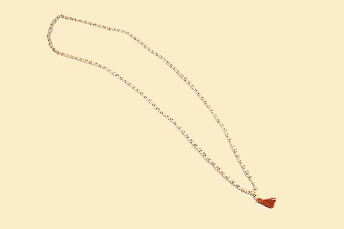 Totenkopf-Mala aus Yakknochen 128 cm