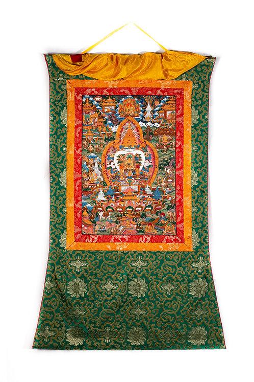 Thangka - Das Leben von Buddha
