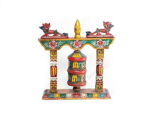Gebetsmühle aus Holz