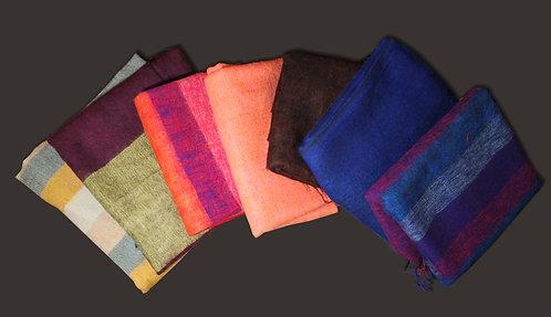 Große Schals aus Nepal 80 x 190 cm   Handgewoben und sehr warm   Perfektes Gesch