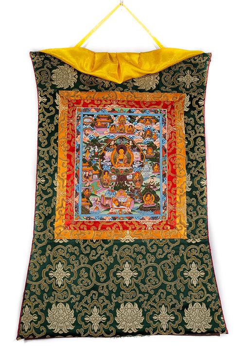 Thangka - Leben des Buddha