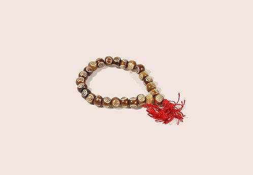 Armband Mala aus gefärbten Yakknochen