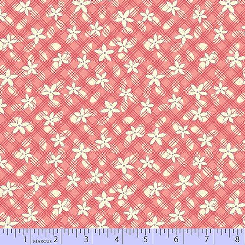 Aunt Grace's Apron-Grid Daisy Pink