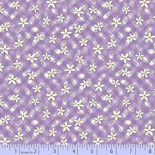Aunt Grace's Apron-Grid Daisy Purple