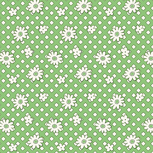 Lottie Ruth Daisies Green 8777