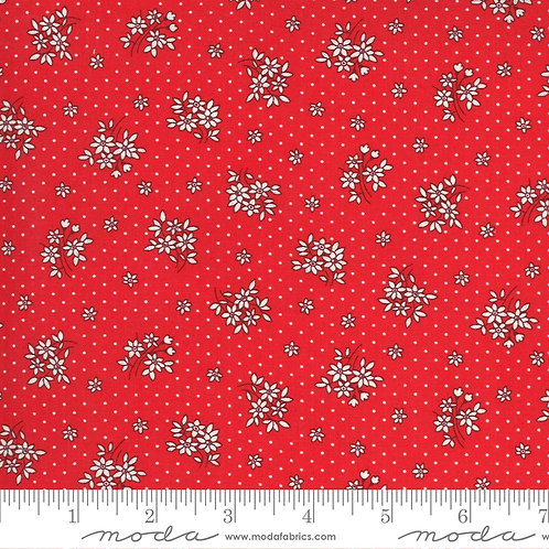 30's Playtime Small Flowers Red