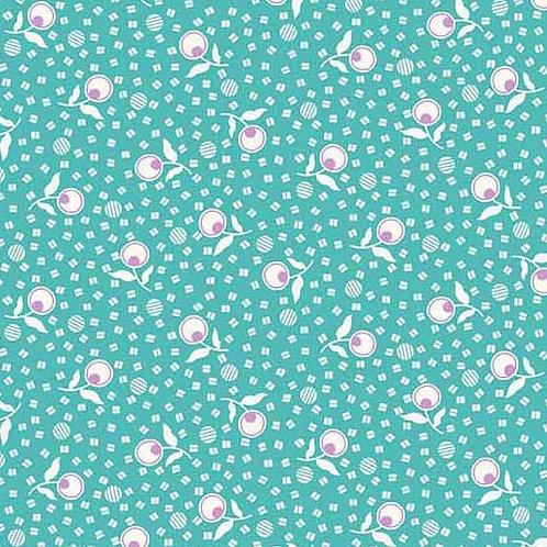 Adeline Teal Flowers 8976