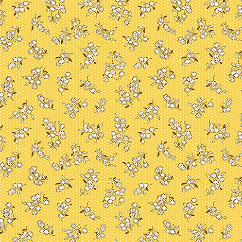 Lottie Ruth Small Flowers onYellow 8782
