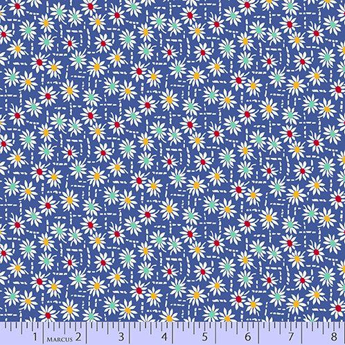 Aunt Grace's Apron-Daisies on Blue