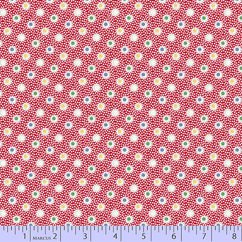 Aunt Grace's Apron-Dots on Red