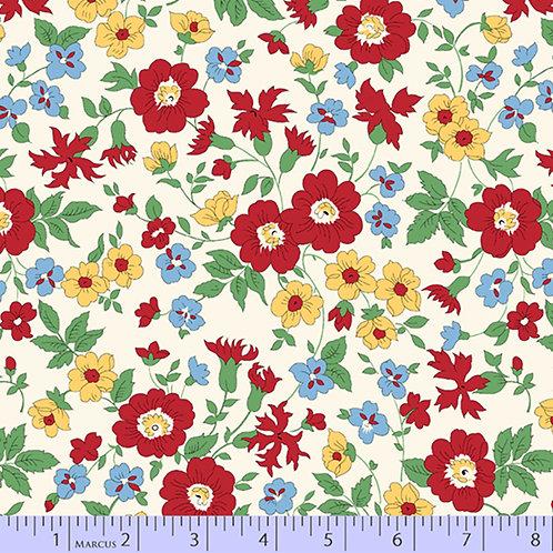 Aunt Grace's Apron-Floral Multi-color