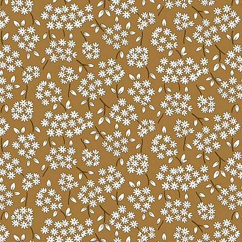 Lottie Ruth Small Daisies Brown 8778