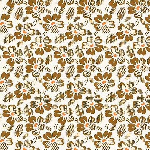 Adeline Waffle Flowers Brown