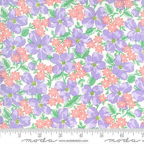 30's Playtime Large Flowers Pink and Purple