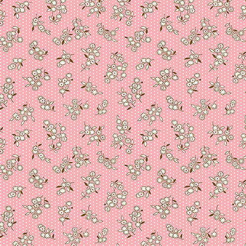 Lottie Ruth Small Flowers on Pink 8782