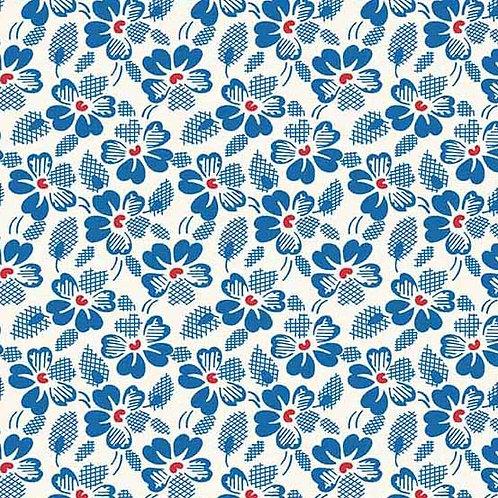 Adeline Waffle Flowers Blue