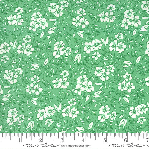 30's Playtime Flowers Green