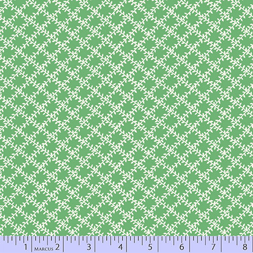 Aunt Grace's Apron-Lattice Green