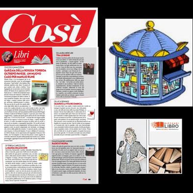 """Recensione sul n.10 del bisettimanale """"COSì"""" del 28 luglio"""