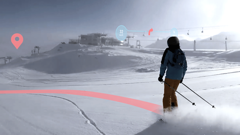 AIR RIDE - augmented reality ski helmet