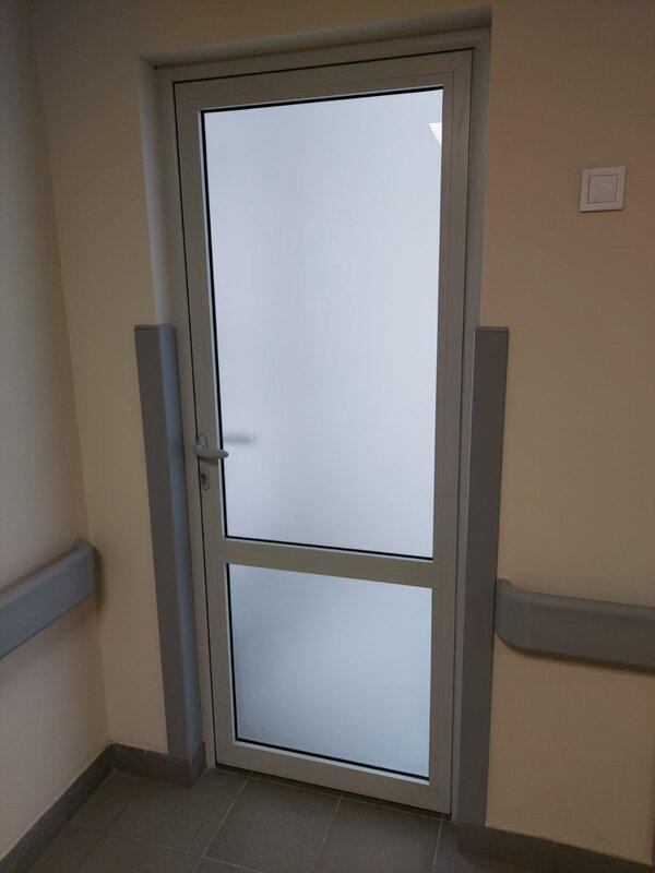 дверь противопожарная остеклённая одност
