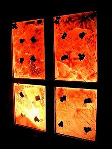 противопожарная остекленная алюмниевая дверь на испытании