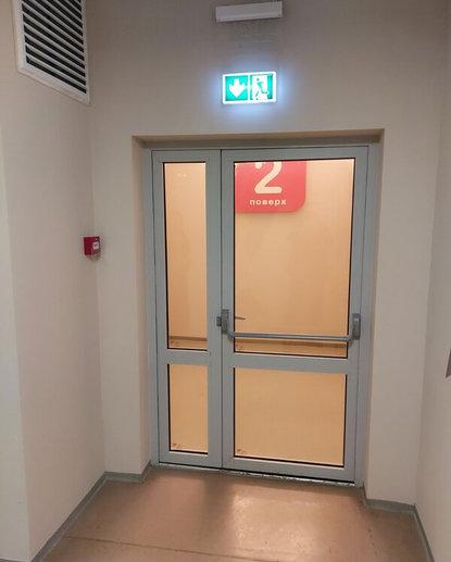 дверь противопожарная остеклённая двуств