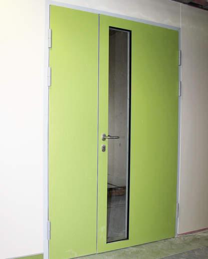 дверь алюминиевая остеклённая hpl