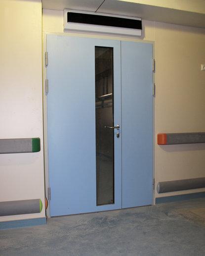 Дверь алюминиевая hpl
